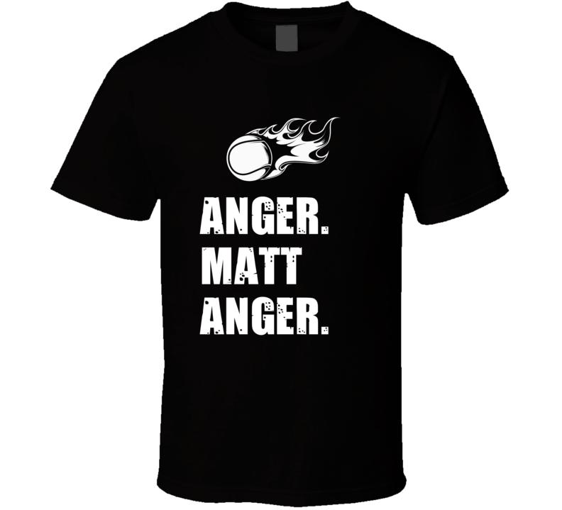 Matt Anger Tennis Player Name Bond Parody T Shirt