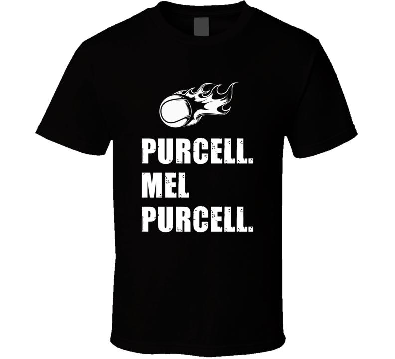 Mel Purcell Tennis Player Name Bond Parody T Shirt