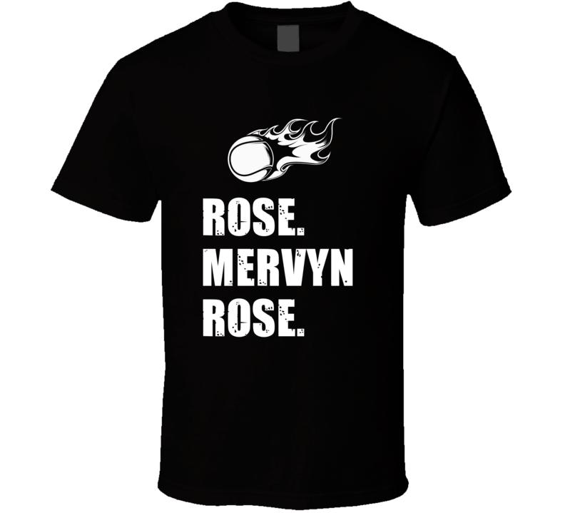 Mervyn Rose Tennis Player Name Bond Parody T Shirt