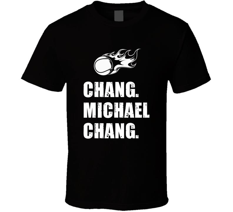 Michael Chang Tennis Player Name Bond Parody T Shirt