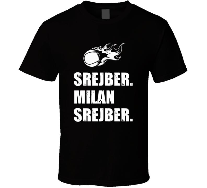 Milan srejber Tennis Player Name Bond Parody T Shirt