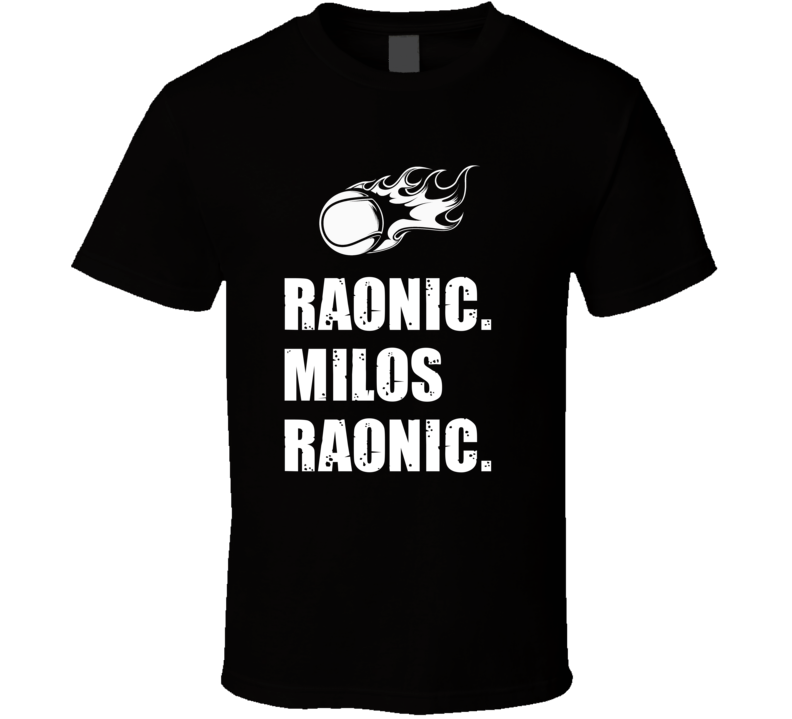Milos Raonic Tennis Player Name Bond Parody T Shirt