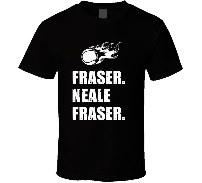 Neale Fraser Tennis Player Name Bond Parody T Shirt