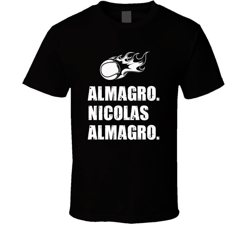 Nicolas Almagro Tennis Player Name Bond Parody T Shirt