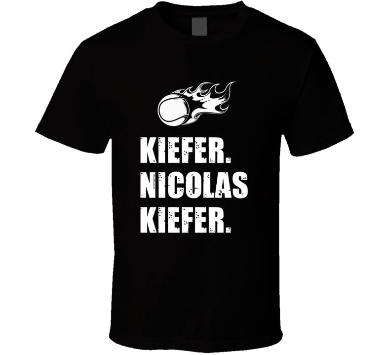 Nicolas Kiefer Tennis Player Name Bond Parody T Shirt