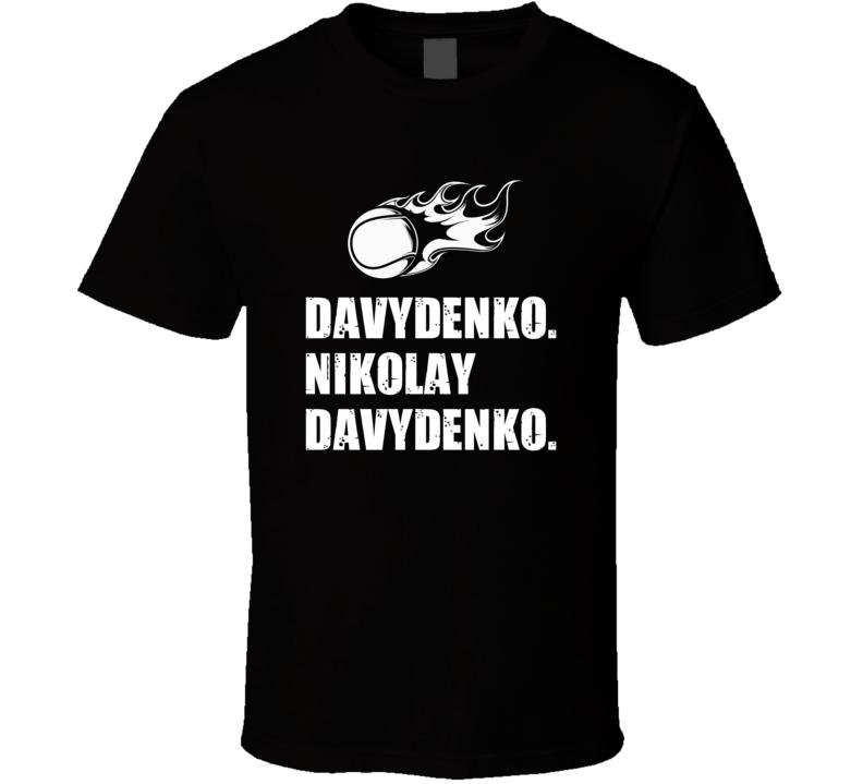 Nikolay Davydenko Tennis Player Name Bond Parody T Shirt