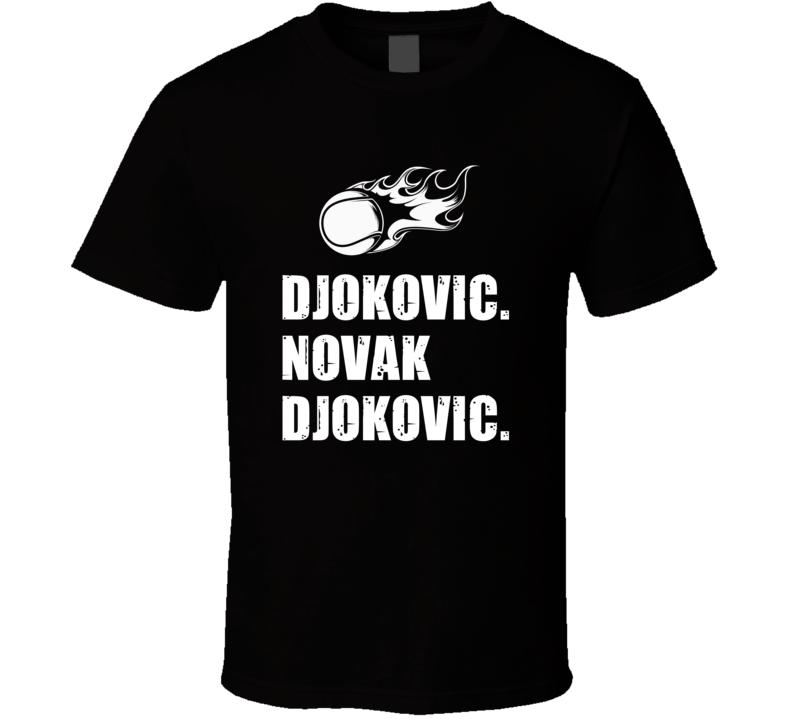 Novak Djokovic Tennis Player Name Bond Parody T Shirt