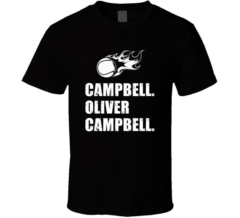 Oliver Campbell Tennis Player Name Bond Parody T Shirt