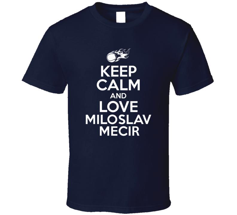 Miloslav Mecir Tennis Player Keep Calm Parody T Shirt