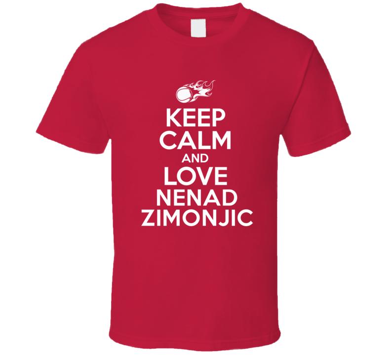 Nenad Zimonjic Tennis Player Keep Calm Parody T Shirt