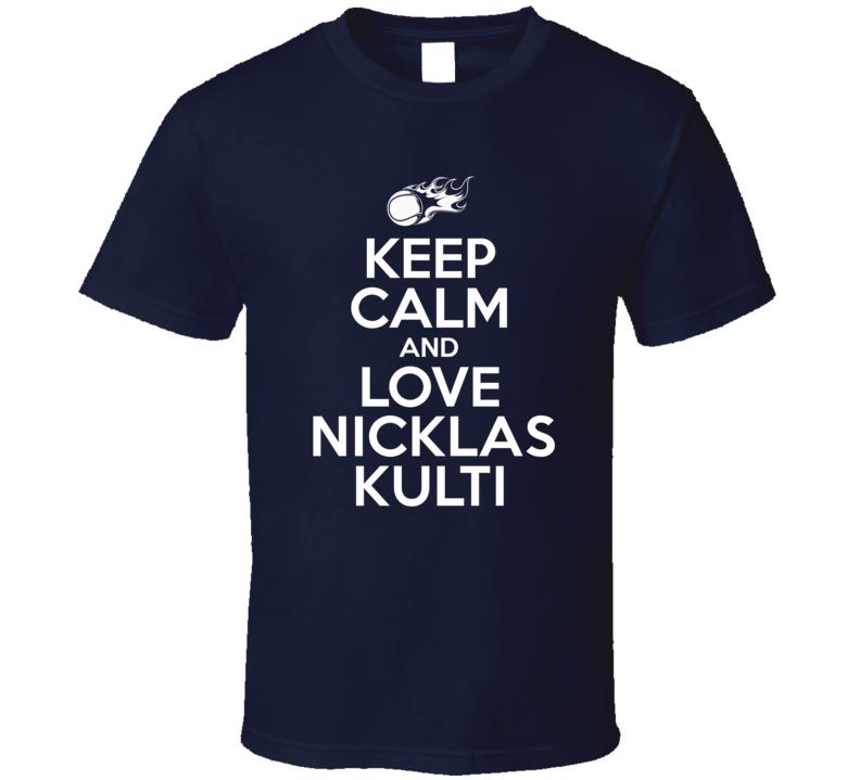 Nicklas Kulti Tennis Player Keep Calm Parody T Shirt