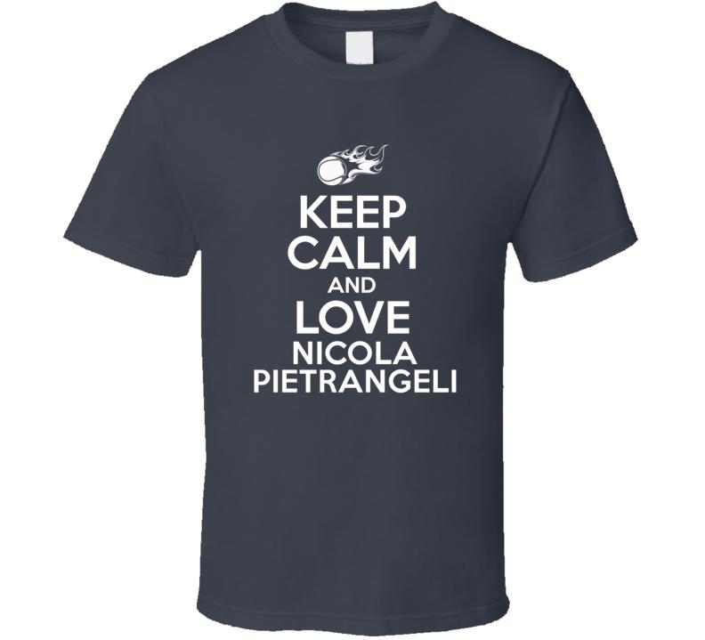 Nicola Pietrangeli Tennis Player Keep Calm Parody T Shirt