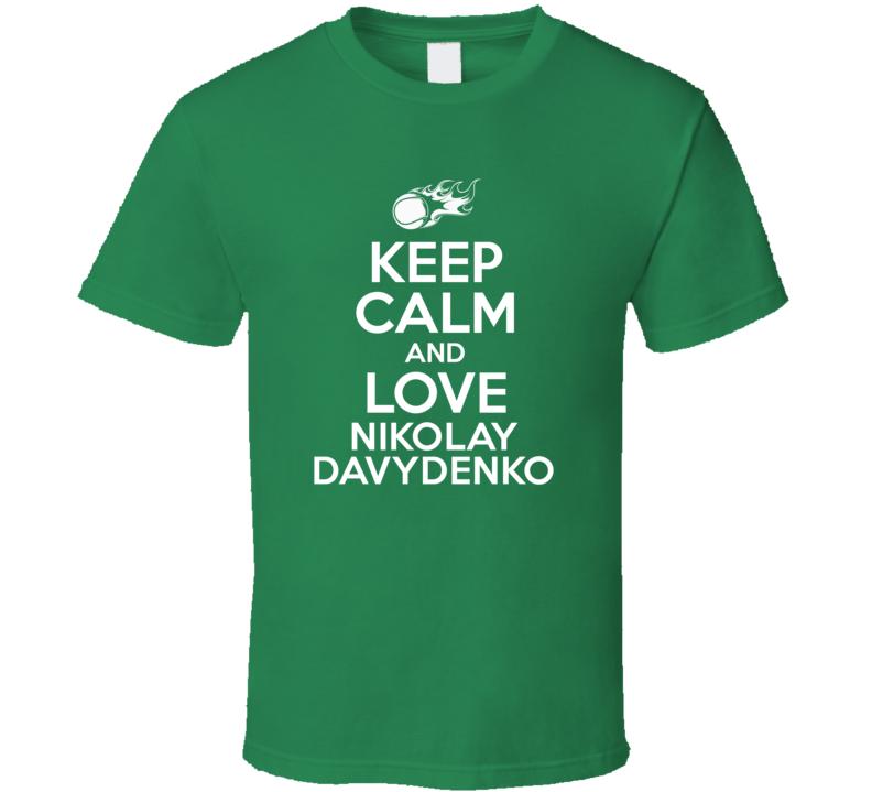 Nikolay Davydenko Tennis Player Keep Calm Parody T Shirt