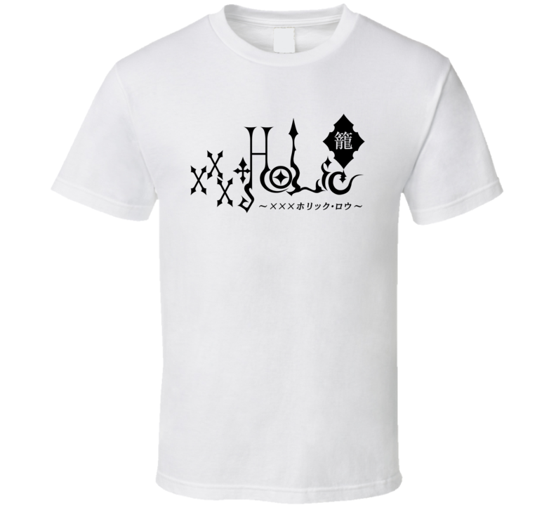 Xxxholic Japanese Anime Logo Black Text T Shirt