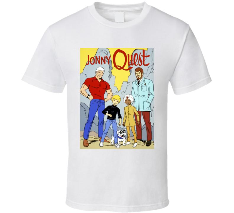 Jonny Quest Cartoon Logo Retro Cult Poster T Shirt