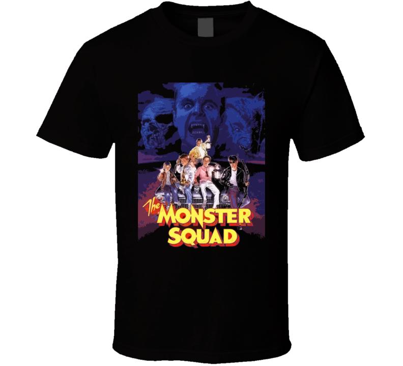 Monster Squad Movie Black T Shirt