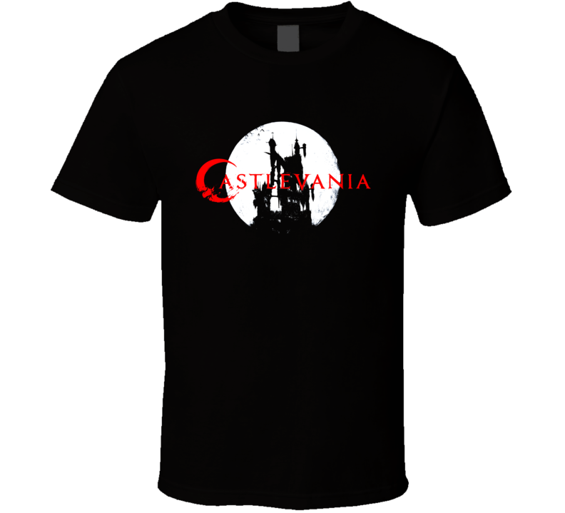 Castlevania Logo Dracula Castle Moon Anime Game T Shirt