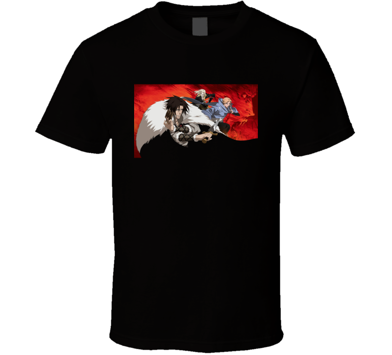 Alucard Trevor Belmont Castlevania Anime Video Game T Shirt