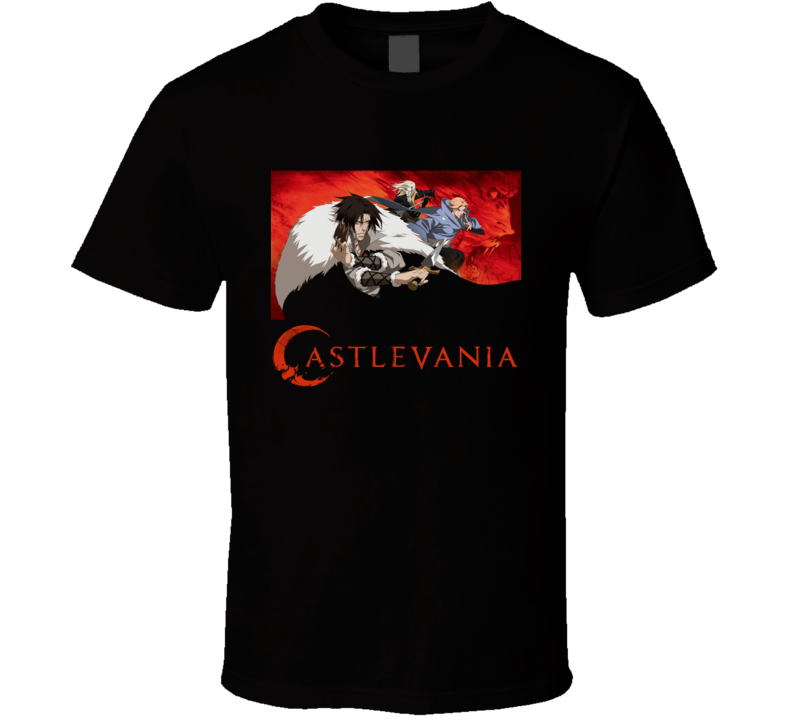 Alucard Trevor Belmont Castlevania Logo Anime Video Game T Shirt