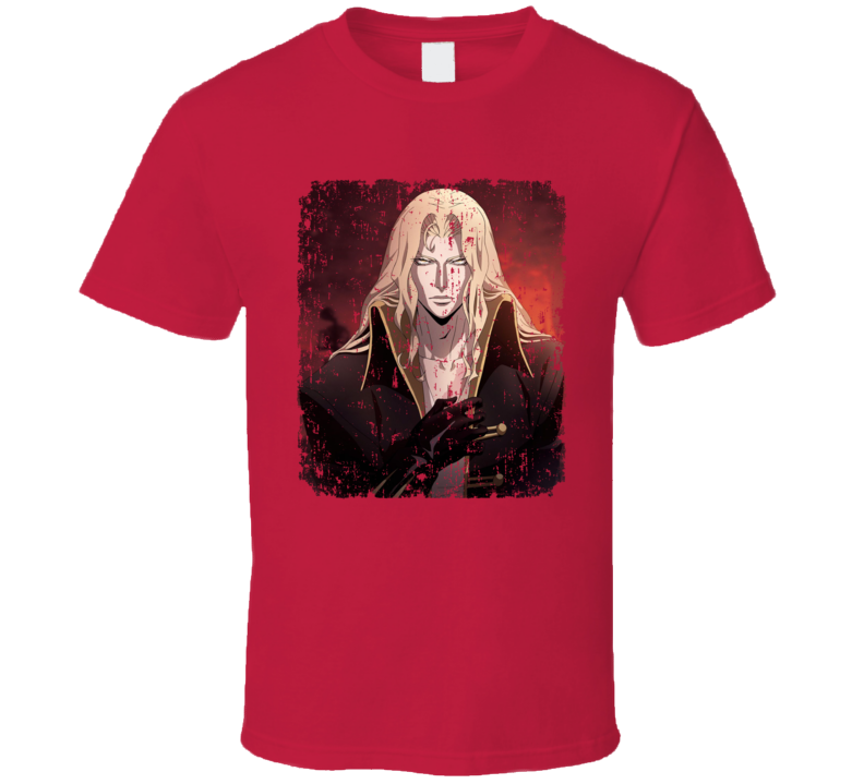 Alucard Portrait Castlevania Anime Video Game Aged T Shirt