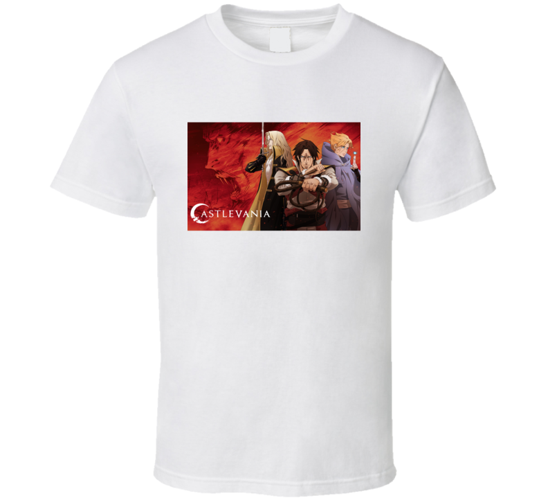 Castlevania Alucard Trevor Belmont Anime Video Game T Shirt