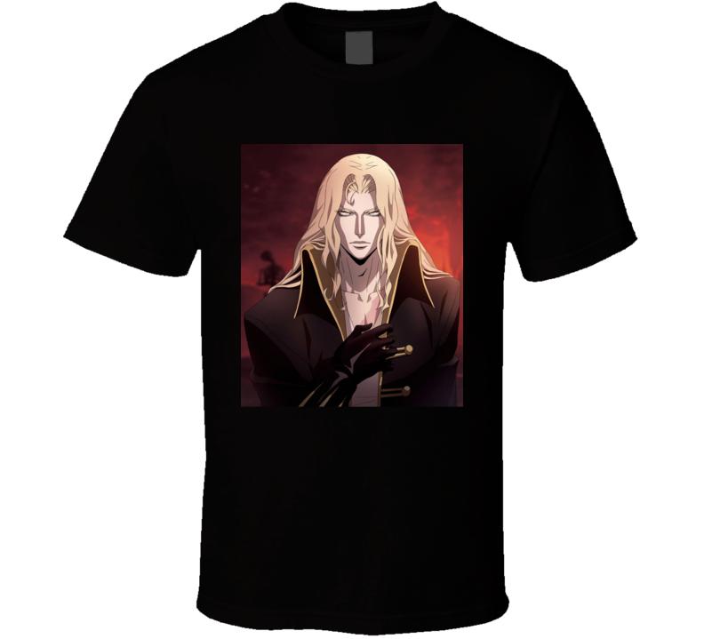 Alucard Portrait Castlevania Anime Video Game T Shirt