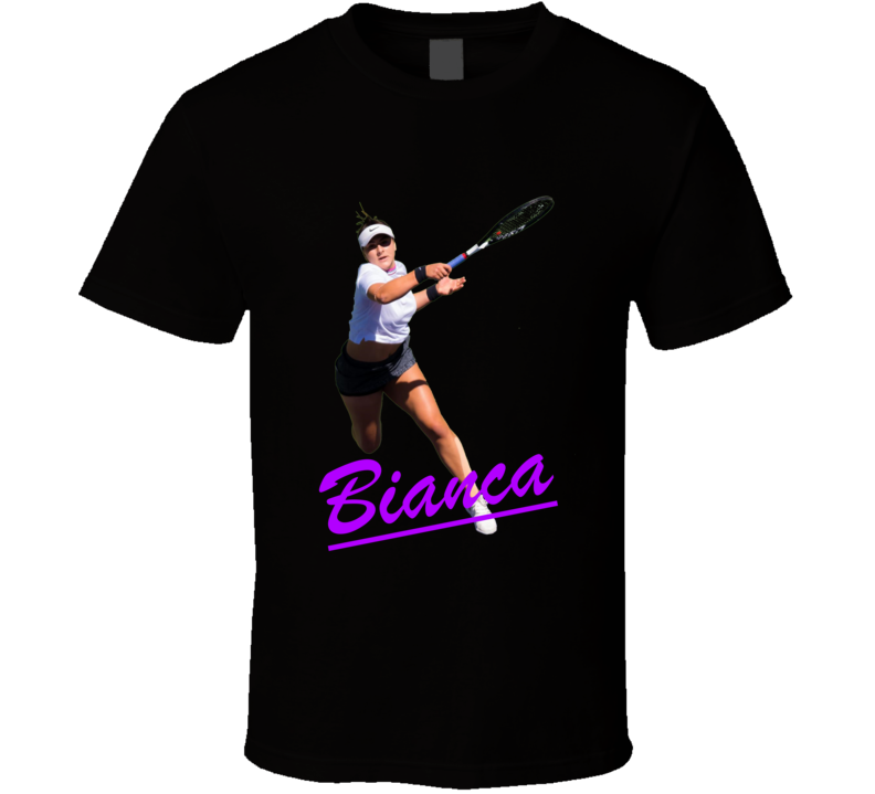 Bianca Andreescu Name Tennis Player Us Open Champion T Shirt