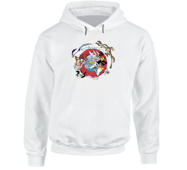 Bugs Bunny Daffy Duck Road Runner Looney Tunes Cartoon Hoodie