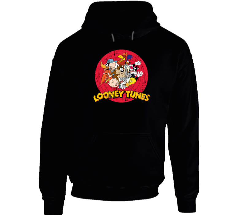 Bugs Bunny Daffy Duck Porky Pig Looney Tunes Cartoon Aged Hoodie