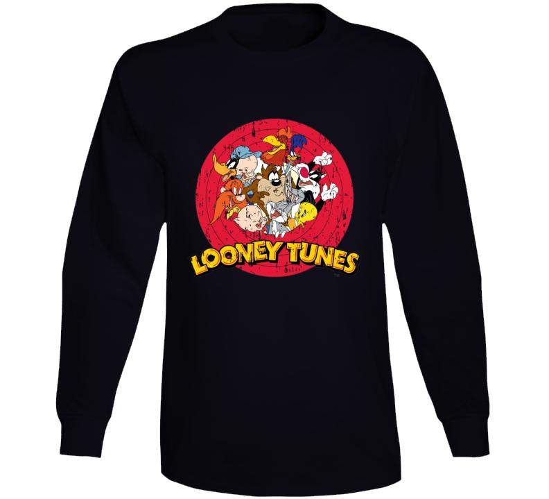 Bugs Bunny Daffy Duck Porky Pig Looney Tunes Cartoon Aged Long Sleeve