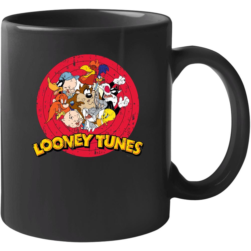 Bugs Bunny Daffy Duck Porky Pig Looney Tunes Cartoon Aged Mug