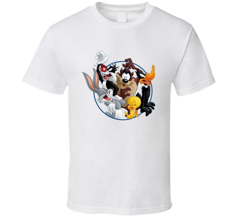 Bugs Bunny Daffy Duck Sylvester Cat Looney Tunes Cartoon T Shirt