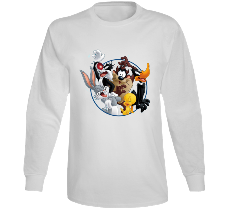 Bugs Bunny Daffy Duck Sylvester Cat Looney Tunes Cartoon Long Sleeve
