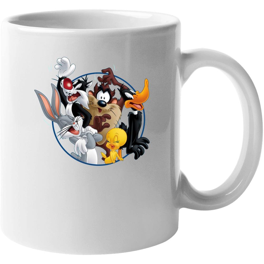 Bugs Bunny Daffy Duck Sylvester Cat Looney Tunes Cartoon Mug