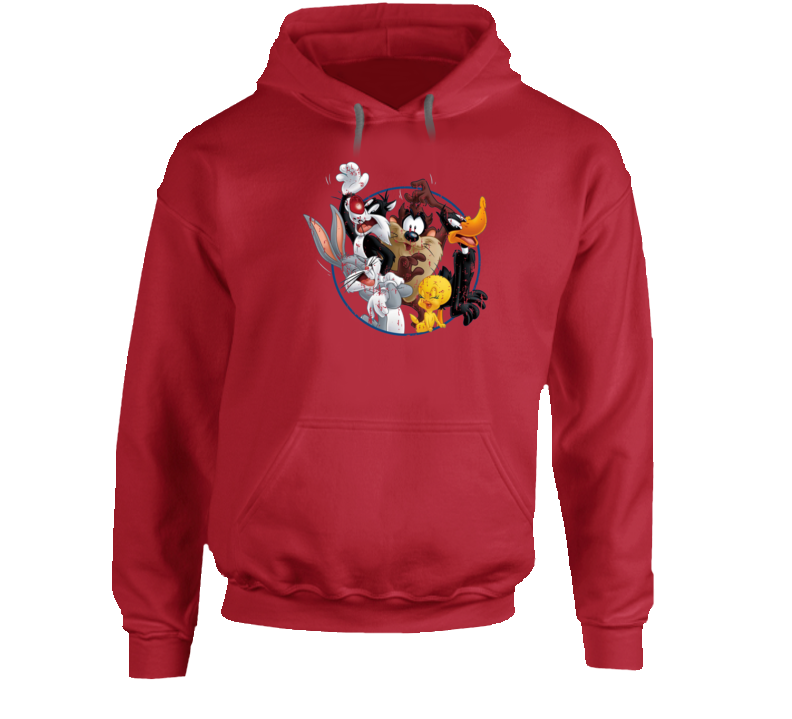 Bugs Bunny Daffy Duck Sylvester Cat Looney Tunes Cartoon Aged Hoodie