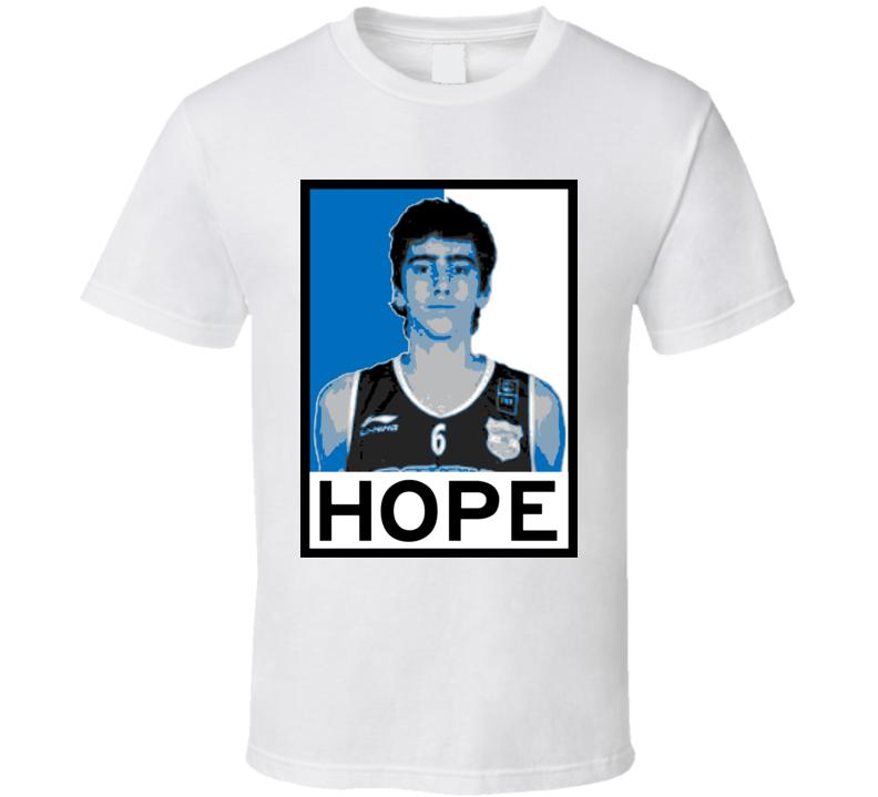 Juan Pablo Vaulet Hope Poster Parody Charlotte Basketball Draft 2015 Sports T Shirt