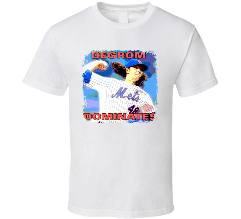 Jacob DeGrom Dominates Mets Baseball T Shirt