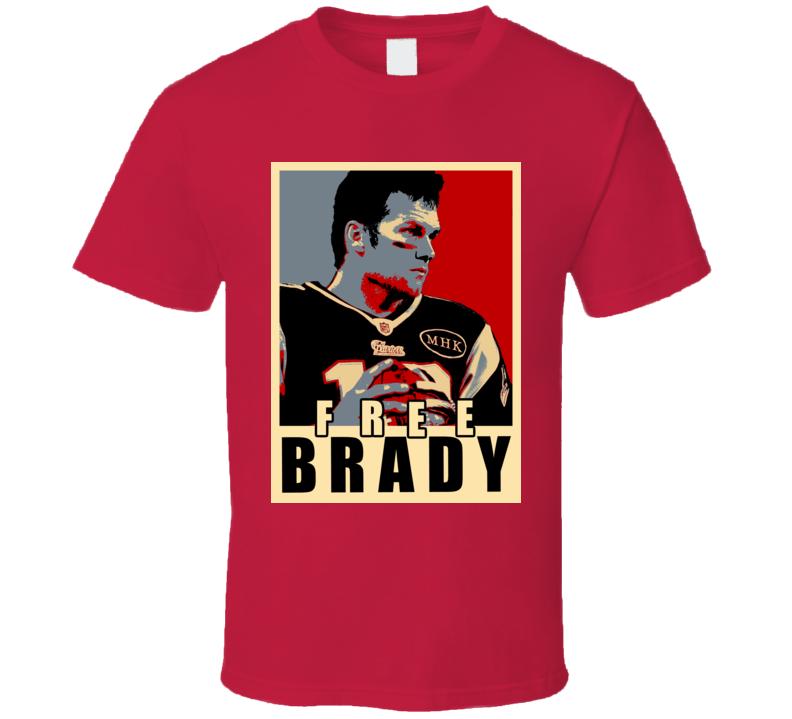 Free Brady Patriots Football Twitter T Shirt
