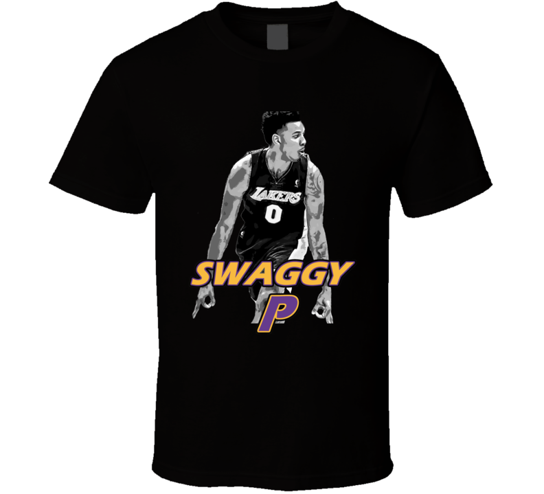 Swaggy P Lakers Basketball Black T Shirt