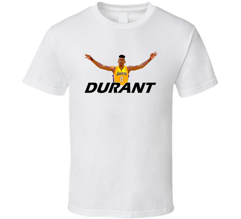 Durant Lakers Basketball Arms Wide Open T Shirt