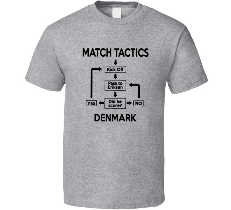 Denmark World Cup Tactics Brilliant Soccer T Shirt