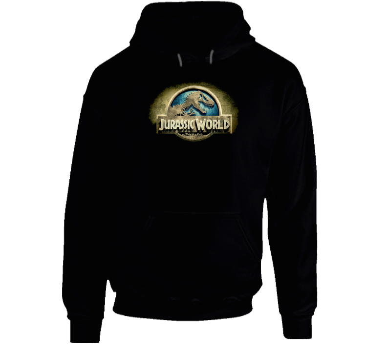 Jurassic World Indominus Rex Dinosaur 2015 Movie Trailer Logo Hoodie