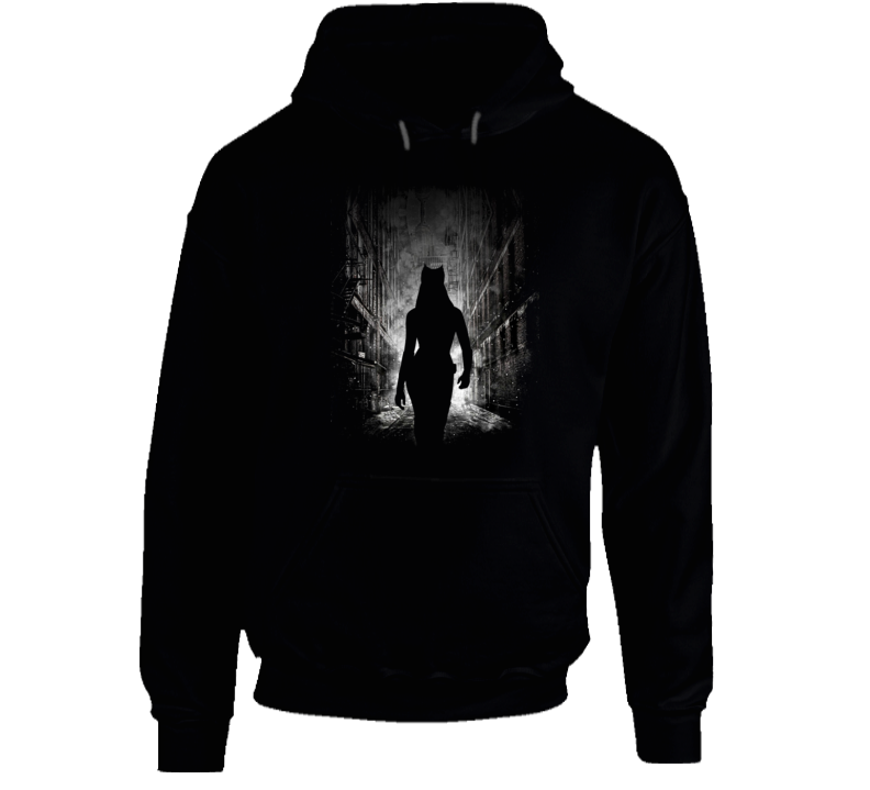 Catwoman Batman City Alley Prowl Scene Night on the Town Fun Hoodie