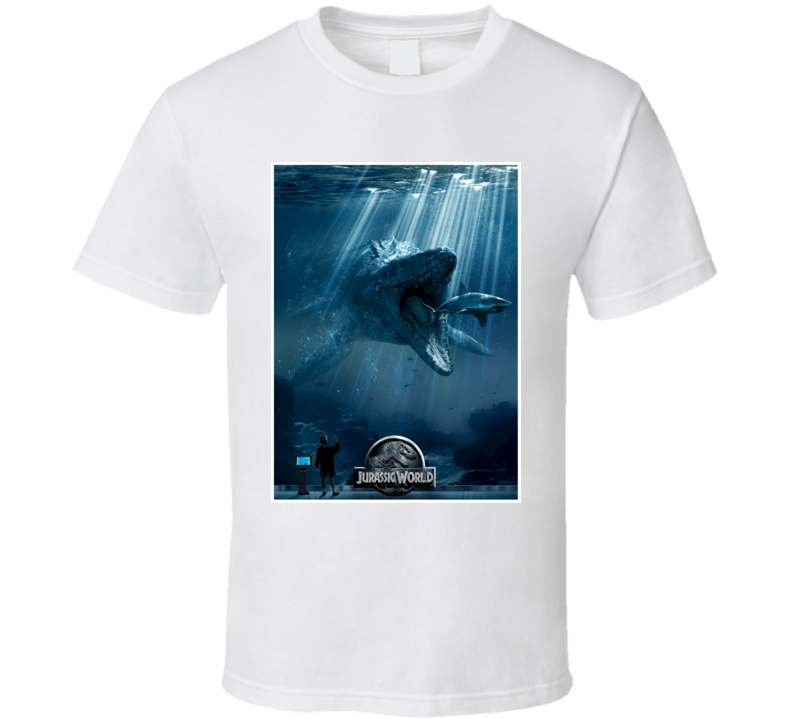 Mosasaurs Hainosaurus Under Water Dinosaur Jurassic World T Shirt