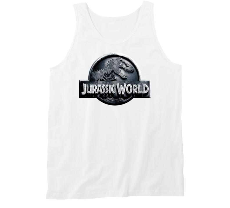 Jurassic World Indominus Rex Dinosaur Cool 2015 Movie Logo Tanktop