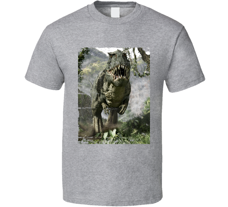 Indominus Rex Jurassic World 2015 Dinosaur Movie Scene Cool T Shirt