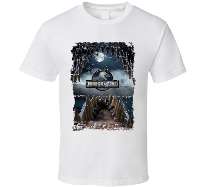 Indominus Rex Jurassic World Dinosaur Movie Poster Worn Look T Shirt