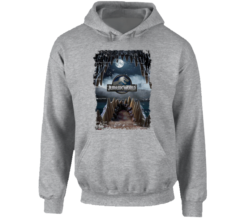 Indominus Rex Jurassic World Dinosaur Movie Poster Worn Look Hoodie