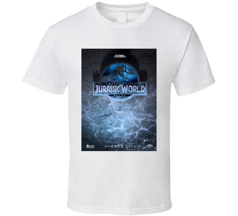 Jurassic World Indominus Rex Dinosaur Movie Logo Sea Poster T Shirt