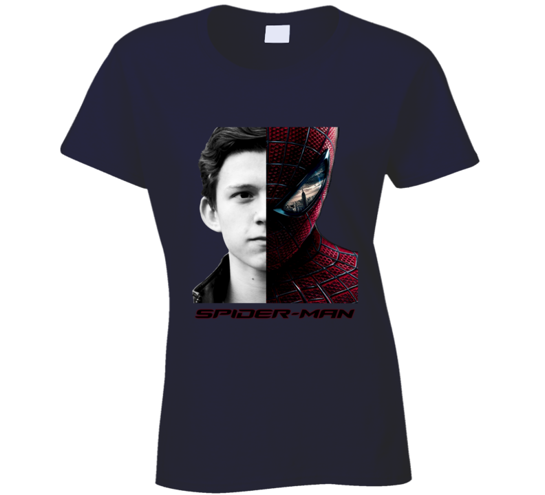 Tom Holland Cast As New Spiderman Peter Parker Fan Ladies T Shirt